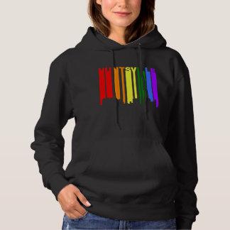 Huntsville Alabama Gay Pride Rainbow Skyline Hoodie
