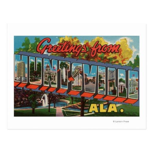 Huntsville, Alabama - Large Letter Scenes Postcard