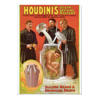 Huodini's Death Defying Mystery, 1908 Poster Card