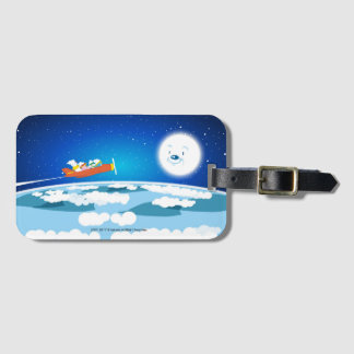 huratsuhui baburu (fluffy Bubool) MOON Luggage Tag