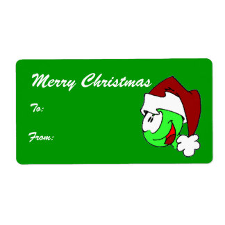 Hurbi - Merry Christmas Tags Shipping Label