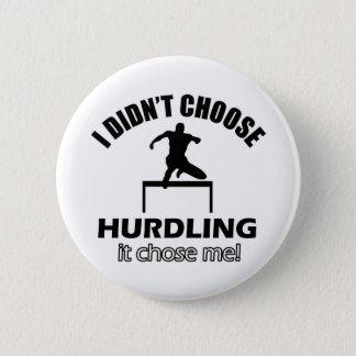hurdle designs 6 cm round badge
