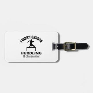 hurdle designs luggage tag