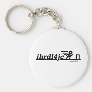 Hurdle For Jesus Key Ring