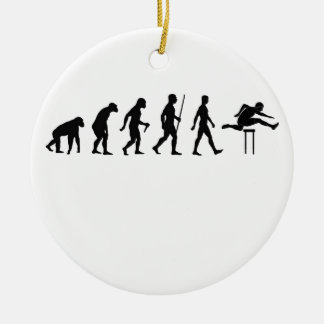 Hurdles Evolution ~ Track and Field Tees.png Ceramic Ornament