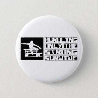 Hurdling Survive 6 Cm Round Badge