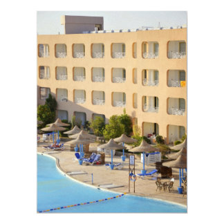 Hurghada hotel 17 cm x 22 cm invitation card