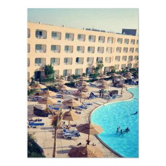 Hurghada hotel resort 17 cm x 22 cm invitation card