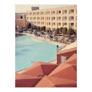 Hurghada resort 17 cm x 22 cm invitation card