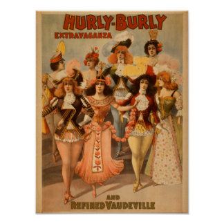 Hurly-Burly Extravaganza Theatre Poster