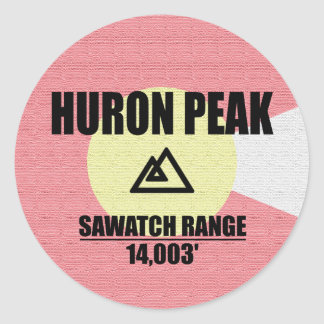 Huron Peak Round Sticker