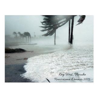 Hurricane Dennis 2005 Key West Florida Postcard