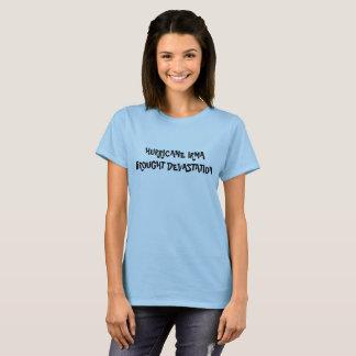 Hurricane devastation blue t shirt