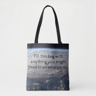 Hurricane Emergency Tote Bag