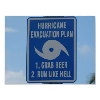 Hurricane Evacuation Plan Poster