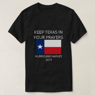 Hurricane Harvey - Texas Flag - Pray for Texas T-Shirt