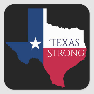 Hurricane Harvey Texas Strong State & Flag Sticker