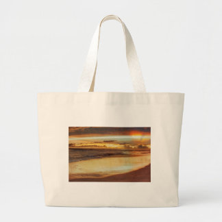 Hurricane Hermine Sunset Large Tote Bag