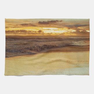 Hurricane Hermine Sunset Tea Towel