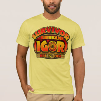 Hurricane Igor - Survivor - Bermuda T-Shirt