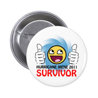 Hurricane Irene 2011 Survivor Button