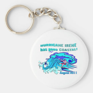 """Hurricane Irene"" coastal collection Basic Round Button Key Ring"
