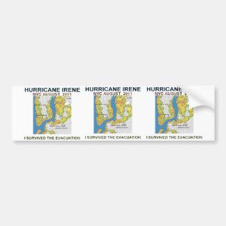 Hurricane Irene New York City Evacuation Map Poste Bumper Sticker