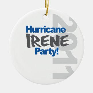 Hurricane Irene Party 2011 Ceramic Ornament