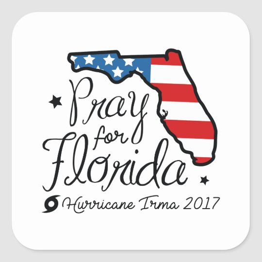 Hurricane Irma Square Sticker