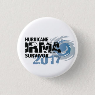 Hurricane Irma Survivor Florida 2017 Button