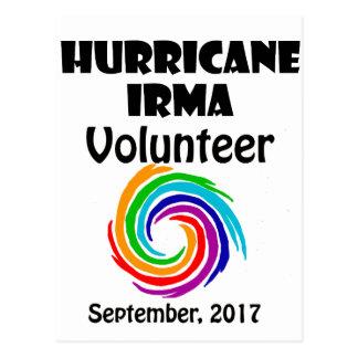 Hurricane Irma Volunteer 2017 Artwork Postcard