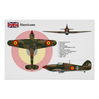 Hurricane Mk I  Belgium 1 Poster