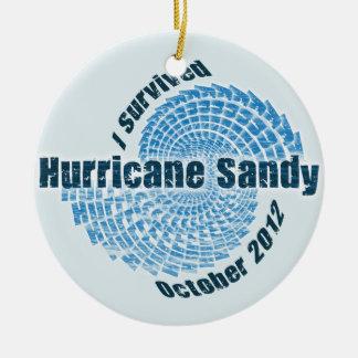 Hurricane Sandy Ceramic Ornament