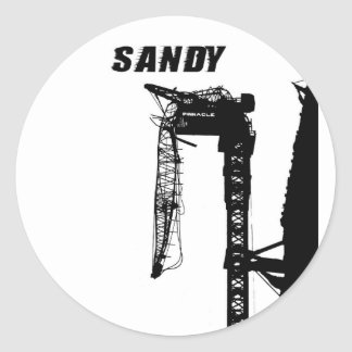 Hurricane Sandy Classic Round Sticker
