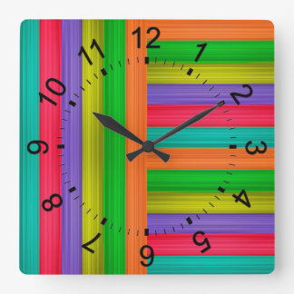 Hurricane Square Wall Clock