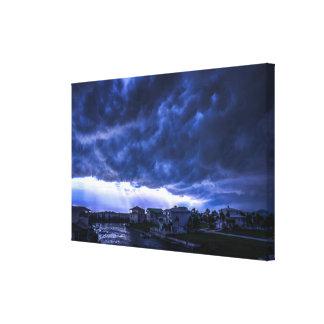 Hurricane Storm Clouds Above Miami Florida Canvas Print
