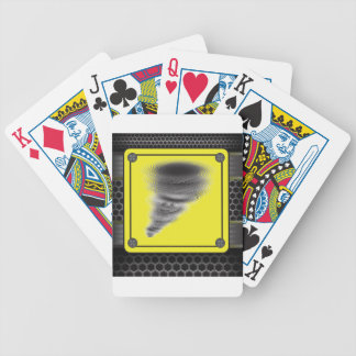 Hurricane Warning Sign Bicycle Playing Cards