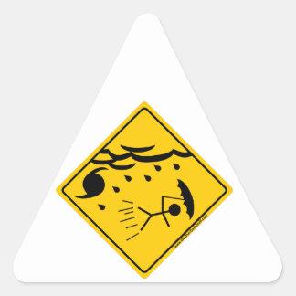 Hurricane Weather Warning Merchandise and Clothing Sticker