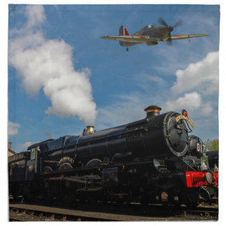 Hurricanes and steam train napkin