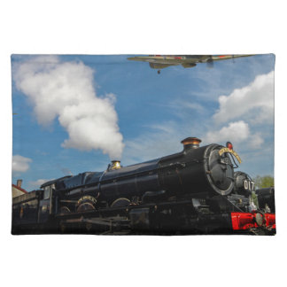 Hurricanes and steam train placemat