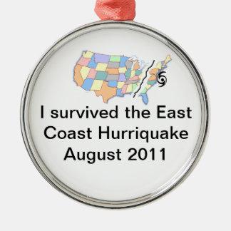 hurriquake 2011 Silver-Colored round decoration