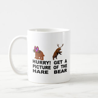Hurry!  Get A Picture Of The Hare Bear Coffee Mug