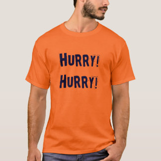 Hurry Hurry blue orange football tee