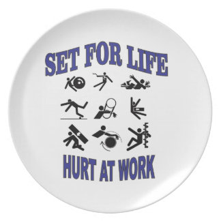hurt at work set for life plate