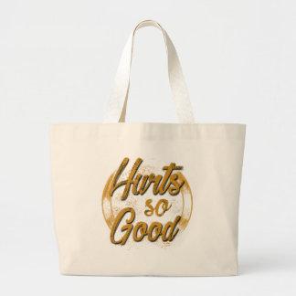 Hurt so good large tote bag