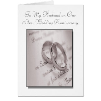 Husband and Wife Silver Wedding Anniversary Card
