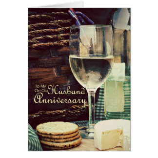 Husband Anniversary Wine Card