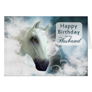 Husband birthday, Arabian spirit Horse Greeting Card