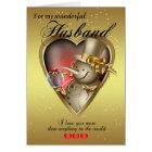 Husband Christmas Card - Snowman In Heart