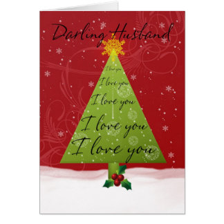 Husband Christmas Card With Holiday Tree
